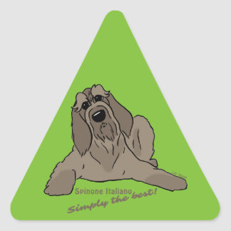 Spinone Italiano - Simply the best! Triangle Sticker
