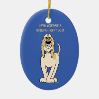 Spinone Italiano Smile Ceramic Oval Decoration