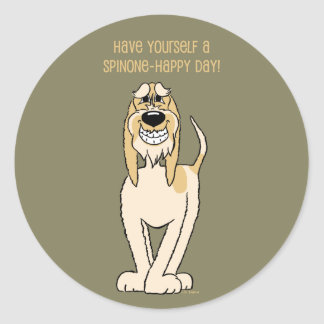 Spinone Italiano Smile Round Sticker