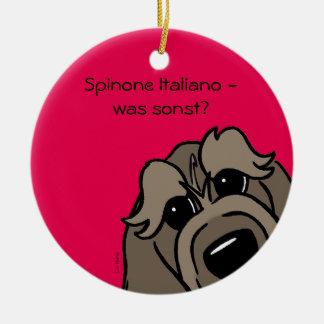 Spinone Italiano - which otherwise? Round Ceramic Decoration