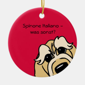 Spinone Italiano - which otherwise? Round Ceramic Decoration