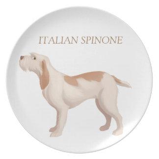 Spinone Melamine Plate