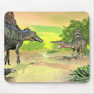 Spinosaurus dinosaurs fight - 3D render Mouse Mat