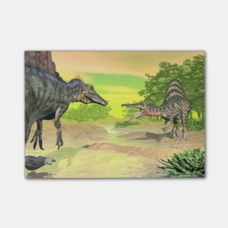 Spinosaurus dinosaurs fight - 3D render Post-it Notes
