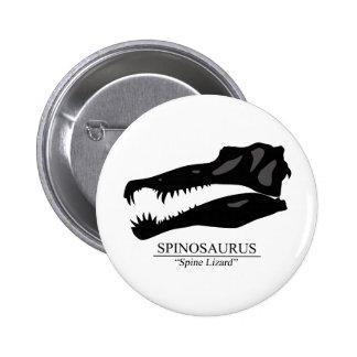 Spinosaurus Skull 6 Cm Round Badge