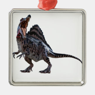 Spinosaurus Squatting and Looking to the Left Christmas Ornament