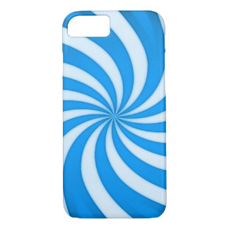 Spiral Baby Blue Candy Cane iPhone 7 Case