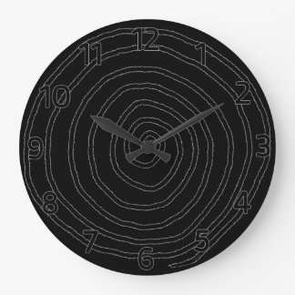Spiral Black Wall Clock