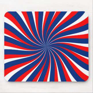 Spiral blue white red... mouse pad
