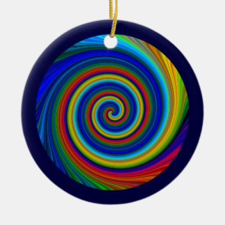 Spiral Blur Christmas Ornament