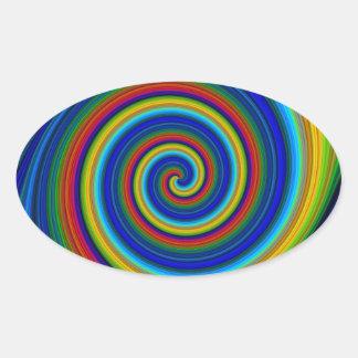 Spiral Blur Oval Sticker