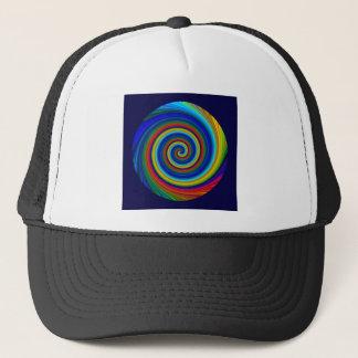 Spiral Blur Trucker Hat