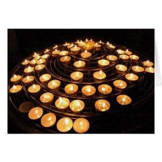 Spiral Candles Card