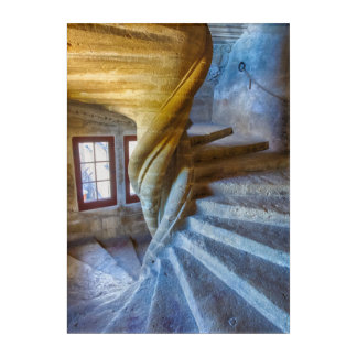 Spiral Castle Staircase, France Acrylic Print