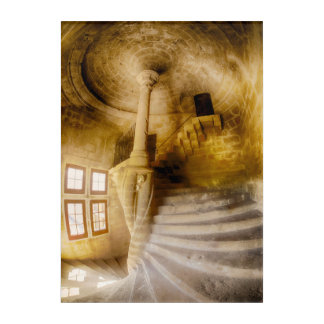 Spiral Chateau Staircase, France Acrylic Print