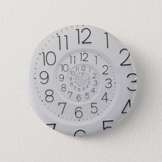 Spiral Clock Droste Button