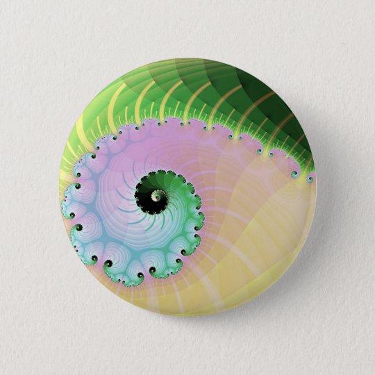 Spiral Curl 6 Cm Round Badge