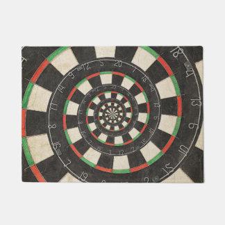 Spiral Dart Board Droste Door Mat