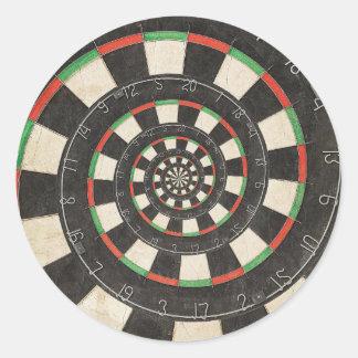Spiral Dart Board Droste Effect Sticker