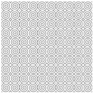 Spiral design in black and white acrylic cut out