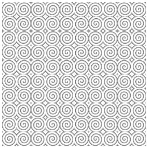 Spiral design, in black and white. acrylic cut outs