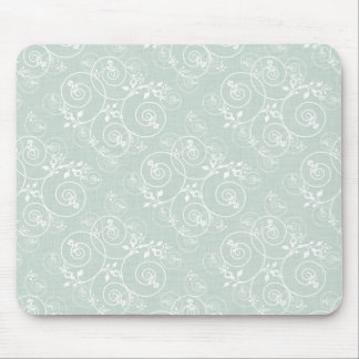 Spiral Design with Green Fabric Mousepads