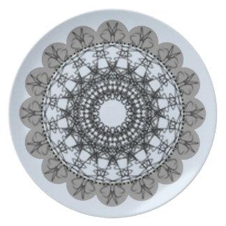 Spiral_Designs_Pale_Blue & Gray_ (c) Plate