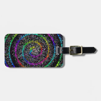 Spiral Dots Luggage Tag