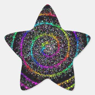 Spiral Dots Star Sticker