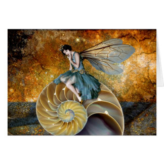 Spiral Fairy Throne Greeting Card