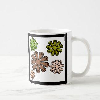 Spiral Flower Camouflage Art Coffee Mug