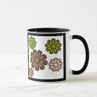 Spiral Flower Camouflage Art Mug