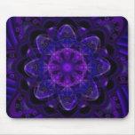 Spiral Flower Fractal Dark Purple UV Pixel