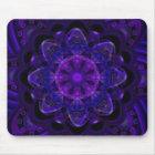 Spiral Flower Fractal Dark Purple UV Pixel Mouse Mat
