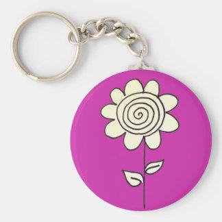 Spiral Flower Key Ring