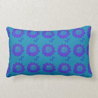 Spiral flower lumbar cushion