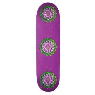 Spiral Flower Mandala Skateboard Deck