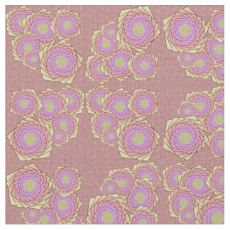 Spiral Flowers Fabric