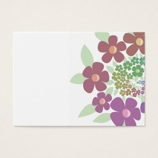 Spiral Flowers in pastel colours Business Card