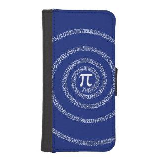 Spiral for Pi on Navy Blue Decor iPhone SE/5/5s Wallet Case