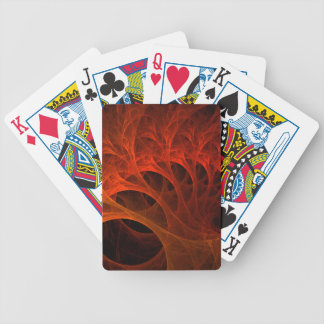 Spiral Fractal Design Bicycle Playing Cards