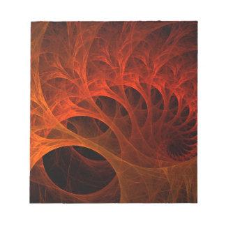 Spiral Fractal Design Notepad