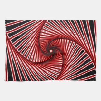 Spiral fractal pattern tea towel