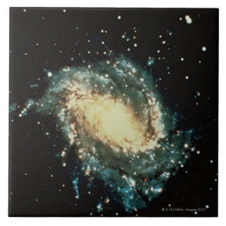 Spiral Galaxy 2 Large Square Tile