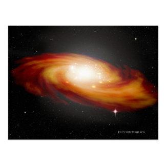 Spiral Galaxy 3 Postcard