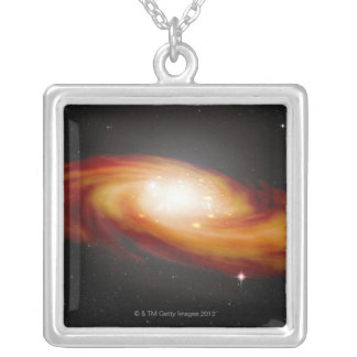 Spiral Galaxy 3 Silver Plated Necklace