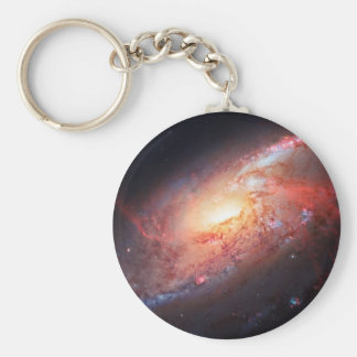 Spiral Galaxy Andromeda Milky Way Universe Stars Basic Round Button Key Ring