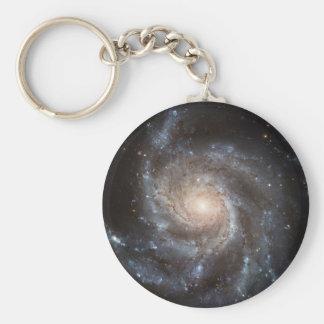 Spiral galaxy basic round button key ring