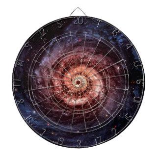 Spiral galaxy dartboard