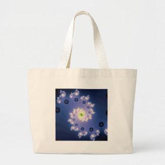 Spiral Galaxy Fractal Canvas Bags